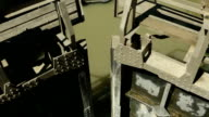 Floodgates closing in Canal du Midi's lock in Beziers, Hérault, France video