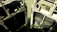 Floodgates opening in Canal du Midi's lock in Beziers, Hérault, France video