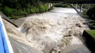 Flooding river (HD) video