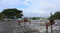 Flooding sluice. video