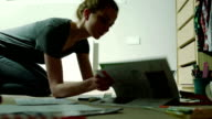 Floor studying B     ED video