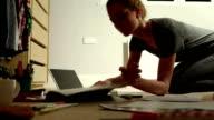 Floor studying student        ED video