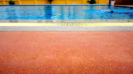 Floor the edge of a swimming pool video