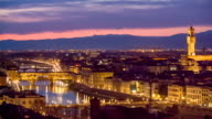 Florence at sunset, Italy video