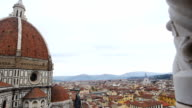 Florence Cathedral on cloudy day panorama from right to left video