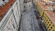 Florence cathedral panoramic upward from the top video