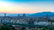 Florence city skyline day to night timelapse, Florence, Italy, 4K Time lapse video