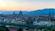 Florence skyline day to night timelapse, Florence, Italy, HD Time lapse video