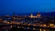 Florence sunrise timelapse video