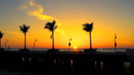 HD TIME LAPSE: Florida Beach At Sunset video