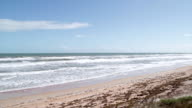 Florida beach near Palm Coast, Atlantic Ocean video