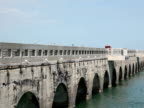 Florida Keys Original Bridge, Truck Traffic video