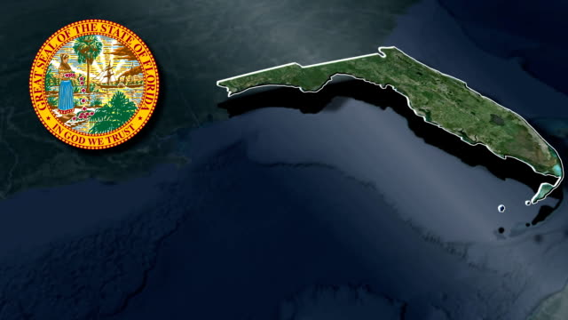 Florida Seal and animation map video