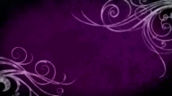 Flourish Grunge Background - Purple video