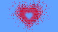 HEART SHAPE : flow, blue (LOOP) video