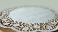 flower on lace doily video