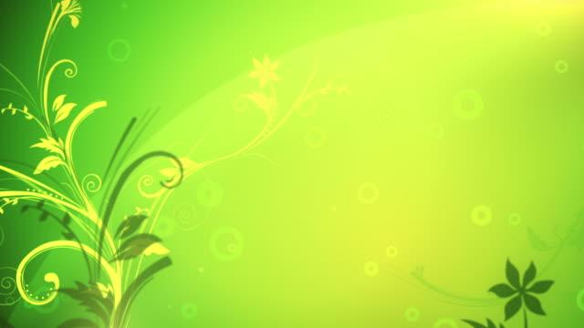 Flower Pattern Background (Yellow/Green) - Loop video