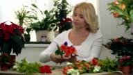 Flower Shopkeeper at Work video