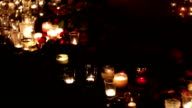 Flowers and candles in memory of the victims of the victims of the terrorist attack and military actions. People mourn. Memorial of memory. Terrorism, military actions, politics video
