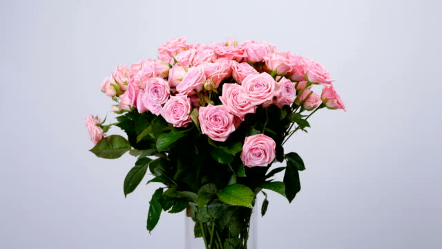 Flowers, bouquet, rotation, floral composition consists of Rose odily. Divine beauty video
