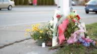 Flowers For Roadside Memorial Marker video