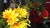 Flowers on a market video