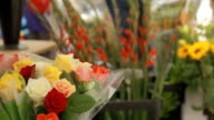 Flowers on a provencal market video