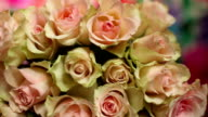 Flowers roses beautiful bouquet video