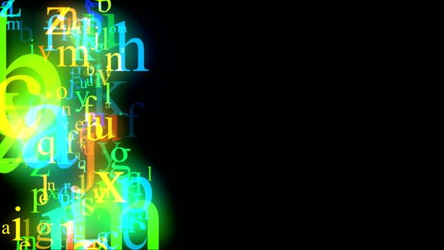 Flowing alphabet video