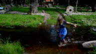 flowing creek  wade girl video