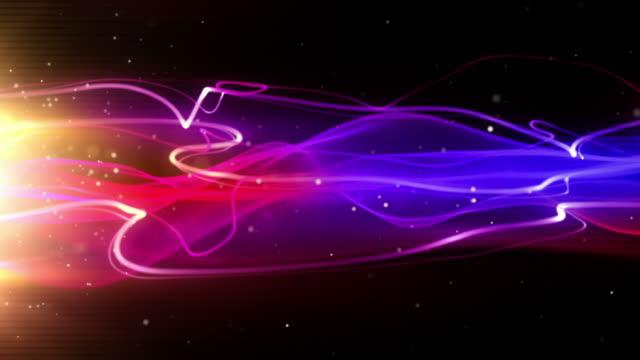Flowing Light Streaks Background Loop - Tropical Pink (Full HD) video