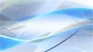 Flowing Modern Waves Background Loop - Washed Blue (Full HD) video