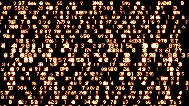 Flowing Numbers video