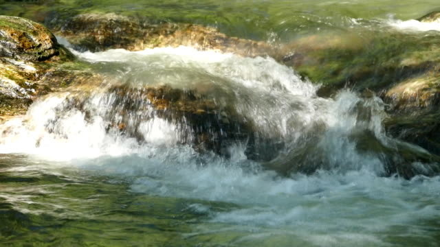 Flowing water and wave video