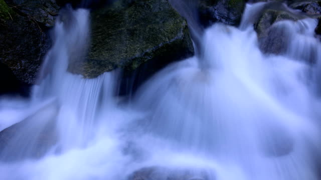 Flowing water on the rocks 4K Time Lapse Video video