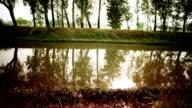 Flowing water video