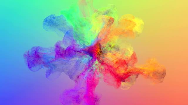 Fluid particles explosion video