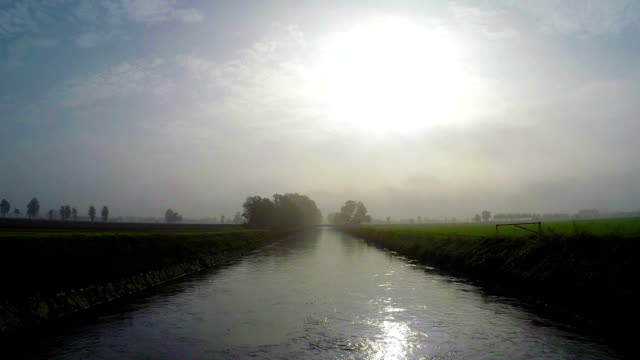 Flushing water in a Canal - Canale Vacchelli video