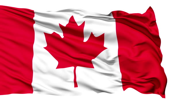Fluttering Flag Of Canada video