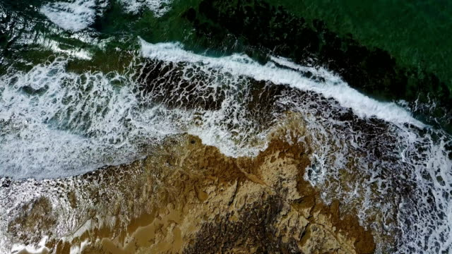 fly clear water of the Mediterranean Sea. Drone Point of View. video
