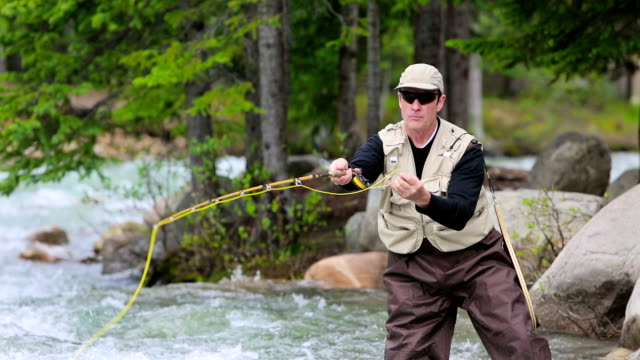 Fly Fishing in Mountain River video