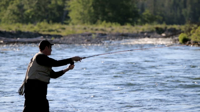 Fly Fishing in River video
