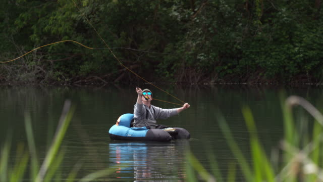 Fly Fishing, slow motion video