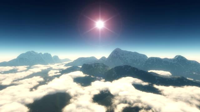 fly in mountain 4k video