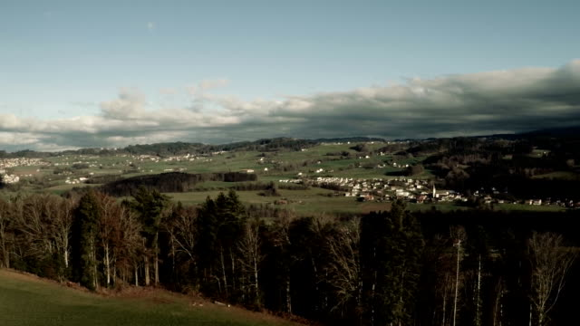 fly over Canton Fribourg video