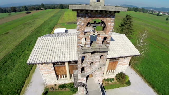 Fly over famous church in Slovenia video