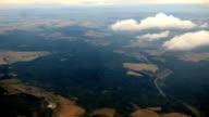 Fly over landscape timelapse video