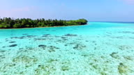 Fly over Maldives Islands. video