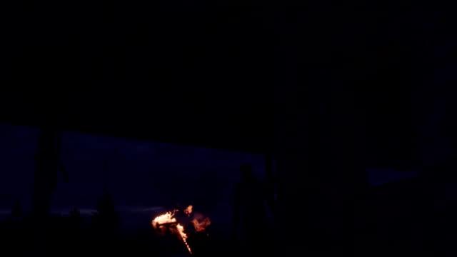 fly skateboard fire video