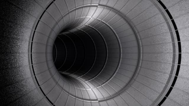 Fly through metallic tunnel,seamless loop video